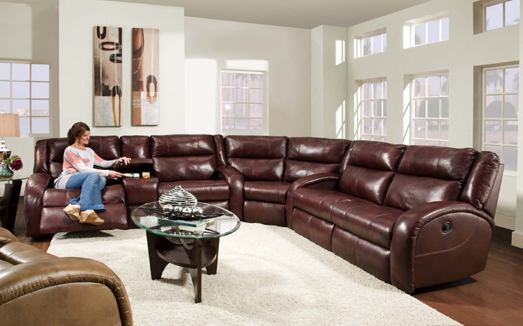 American Made 550 Maverick Reclining Sofa Sectional In Leather Or nicely intended for American Made Sectional Sofas (Image 6 of 20)