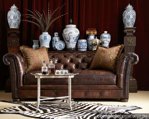 American Rustic Style Chesterfield Sofa Gorgeous Interiors perfectly with regard to Small Chesterfield Sofas (Image 6 of 20)