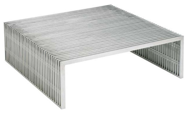 Amici Square Coffee Table Contemporary Coffee Tables clearly pertaining to Metal Square Coffee Tables (Image 1 of 20)