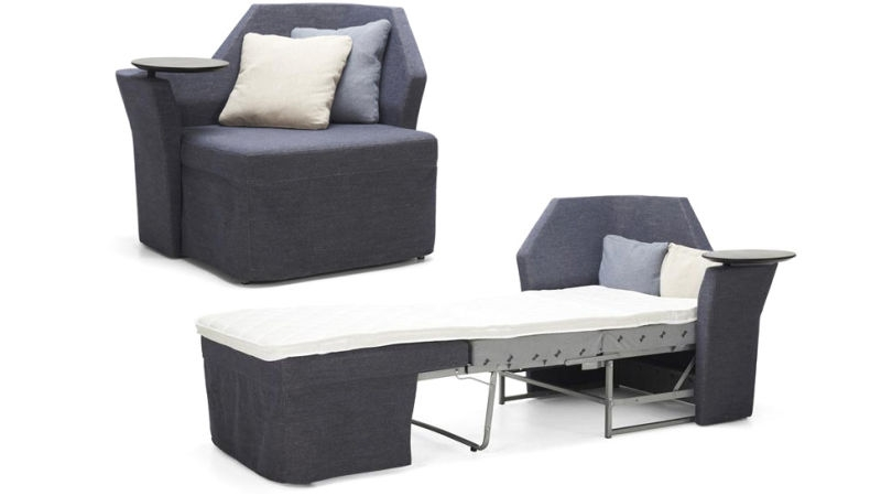 An Incredibly Tiny Sofa Bed For Your Skinniest Houseguests very well with Single Chair Sofa Bed (Image 3 of 20)
