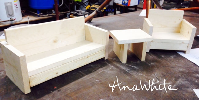 Ana White American Girl Or 18 Doll Sofa Or Couch Plans Diy Perfectly Intended For Diy Sofa Frame (View 14 of 20)