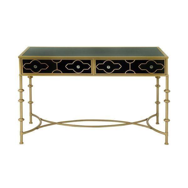 And Gold Metal And Glass Console Table certainly throughout Metal Glass Sofa Tables (Image 4 of 20)