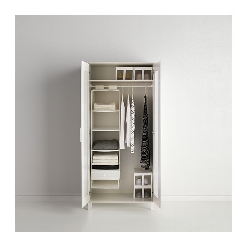 Aneboda Wardrobe White 81x180 Cm Ikea clearly inside Double Rail Wardrobes Ikea (Image 19 of 30)
