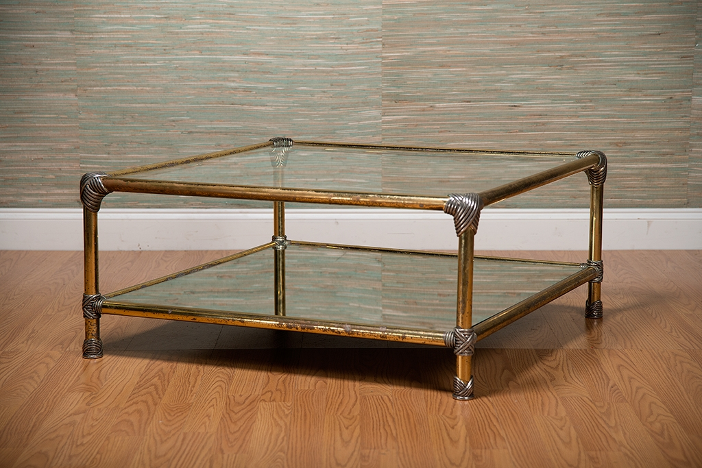 Antique Glass Coffee Table certainly for Vintage Glass Top Coffee Tables (Image 2 of 20)