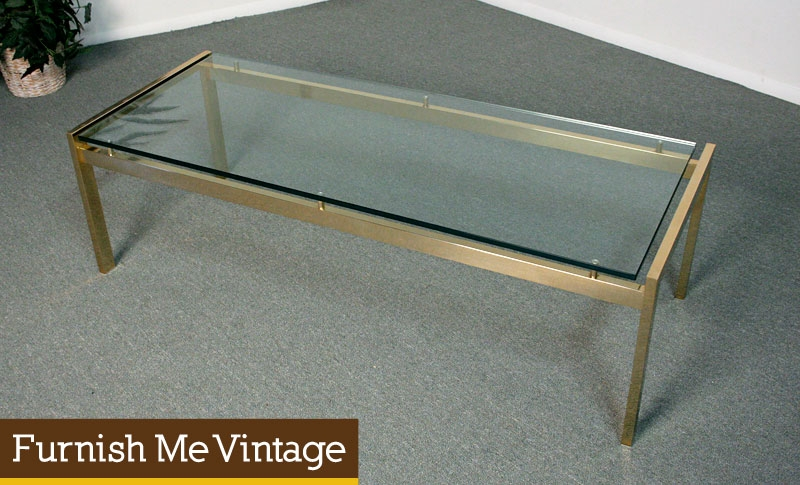 Antique Rectangular Glass Coffee Table Design properly throughout Vintage Glass Top Coffee Tables (Image 3 of 20)