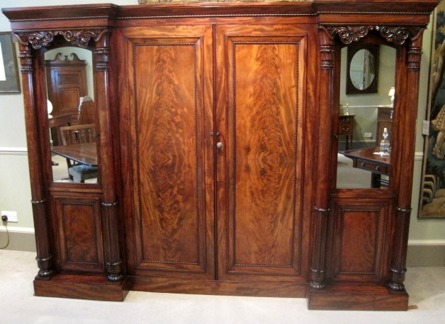 Antique Wardrobe Furniture Antique Linen Press 19th Century nicely for Antique Breakfront Wardrobe (Image 18 of 30)