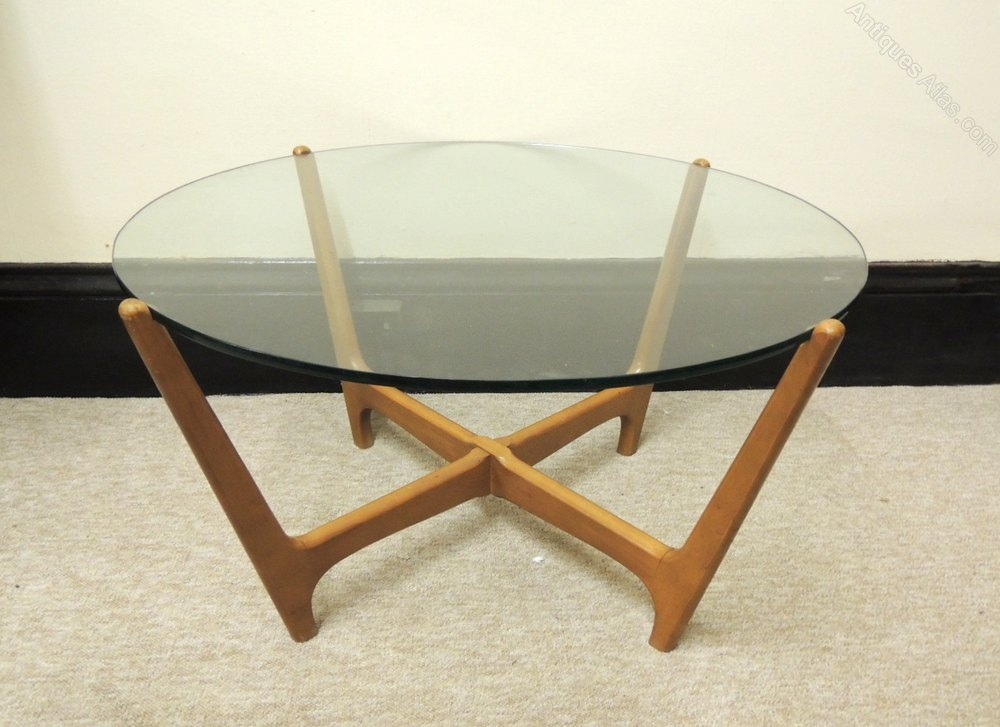 Antiques Atlas Retro Glass Top Coffee Table perfectly pertaining to Vintage Glass Top Coffee Tables (Image 4 of 20)