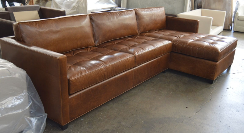 Arizona Leather Sofa Chaise Sectional In Italian Brompton Classic effectively intended for Vintage Leather Sectional Sofas (Image 7 of 20)