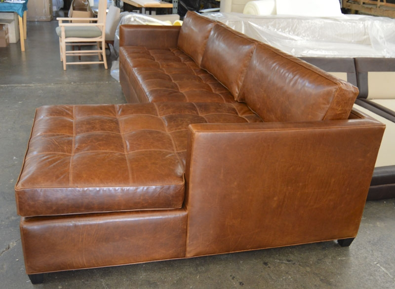 Arizona Leather Sofa Chaise Sectional In Italian Brompton Classic most certainly for Vintage Leather Sectional Sofas (Image 8 of 20)