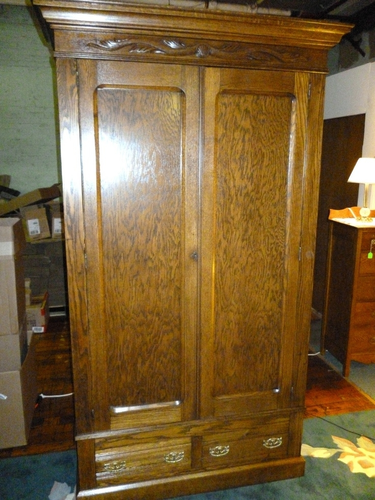 Armoire Amazing Wardrobe Armoire With Drawers Antique Armoire nicely inside Oak Wardrobe With Drawers And Shelves (Image 27 of 30)