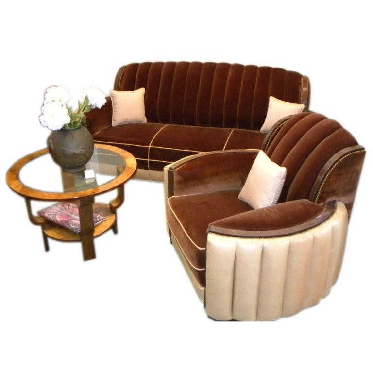 Art Deco Furniture Sold Seating Items Art Deco Collection clearly throughout Art Deco Sofa And Chairs (Image 6 of 20)