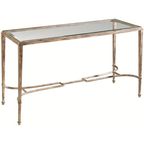 Artistica Sangiovese Rectangular Glass Top Console Table With clearly intended for Metal Glass Sofa Tables (Image 5 of 20)
