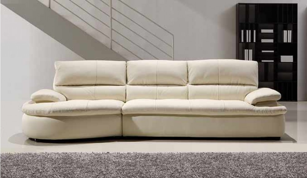 Ascoli White Leather Sofa 4 Seater Modern Style Delux Deco Clearly With Regard To 4 Seater Sofas (View 13 of 20)