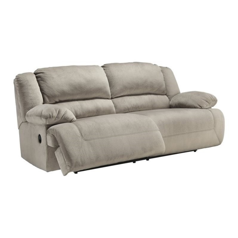 Ashley Furniture Toletta Fabric Reclining Sofa In Granite 5670381 well with regard to Recliner Sofa Chairs (Image 2 of 20)