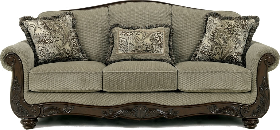 Ashley Furniture Traditional Sofa Chicago Ashley Furniture Store good with regard to Traditional Fabric Sofas (Image 2 of 20)