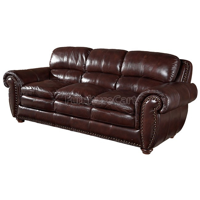 Aspen Leather Sofa Leather Italia Furniture Cart good pertaining to Aspen Leather Sofas (Image 10 of 20)