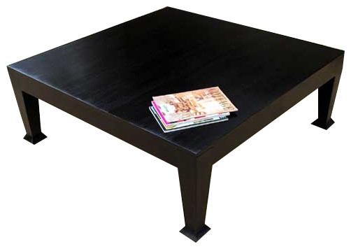Asphalt Rustic Black Wooden Square Coffee Table Coffee Tables certainly inside Square Black Coffee Tables (Image 3 of 20)
