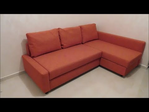 Assembly Friheten Sofa Bed From Ikea Youtube very well with regard to Orange IKEA Sofas (Image 2 of 20)