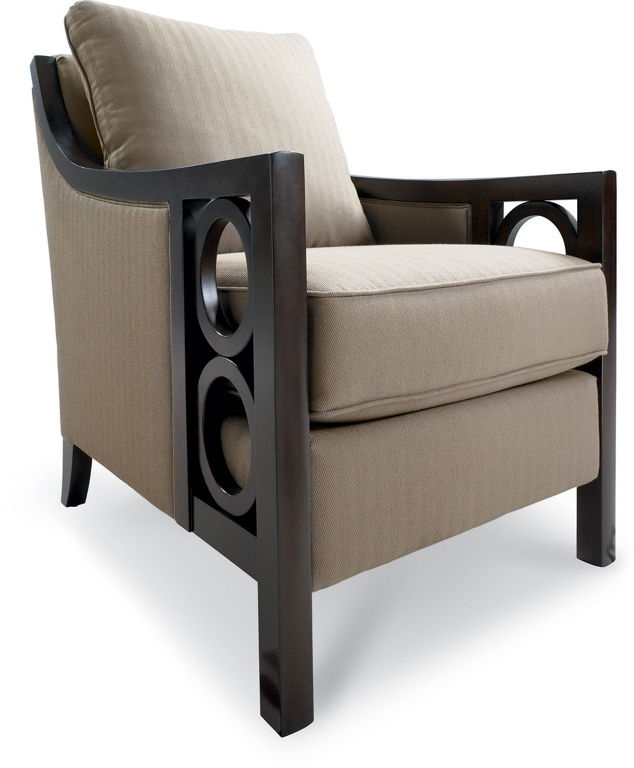 Astounding Brown Fabric Sofa Chairs With Thickly Padded Seat Perfectly Regarding Sofa Arm Chairs (View 7 of 20)