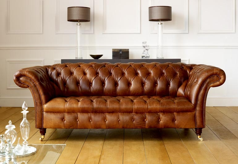 Attractive Chesterfield Leather Sofa Chesterfield Sofas effectively intended for Small Chesterfield Sofas (Image 7 of 20)