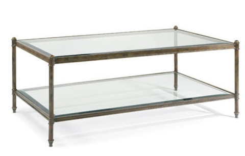Attractive Iron And Glass Coffee Table Glass Top Coffee Tables Effectively Throughout Metal And Glass Coffee Tables (View 14 of 20)