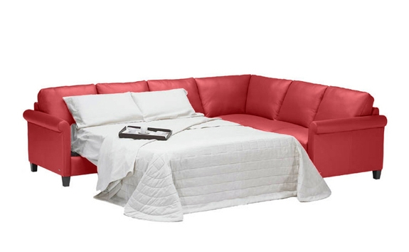 Attractive Red Leather Sleeper Sofa Leather Sofa Beds Sleeper effectively with Red Sectional Sleeper Sofas (Image 1 of 20)