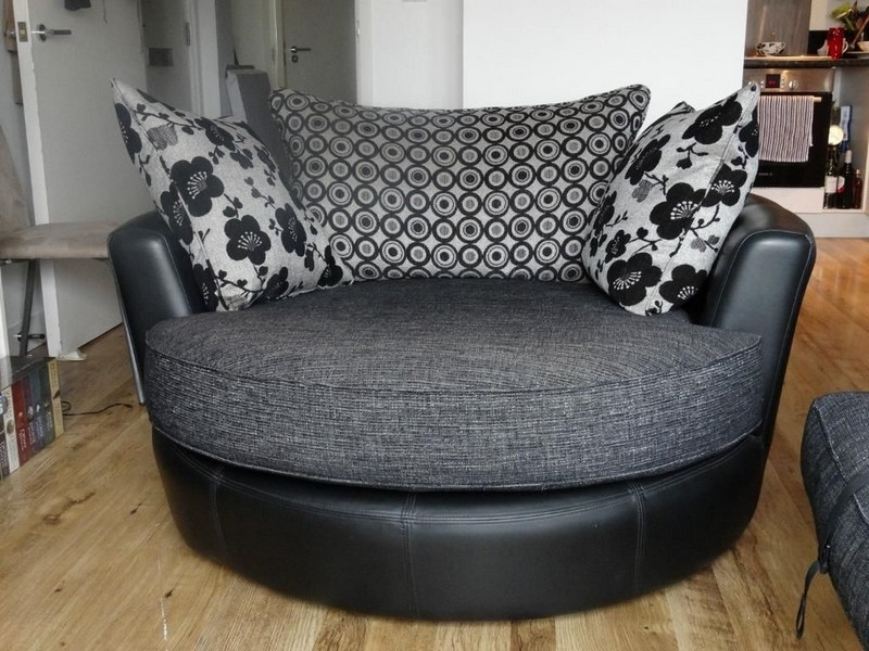 Attractive Round Sofa Chair Beautiful Swivel Surprising Chairjpg  Effectively Pertaining To Spinning Sofa Chairs (Image
