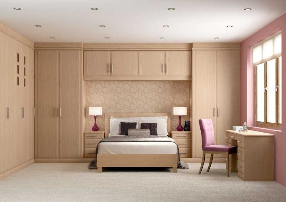 Awesome Bedroom Design With Wooden Wall Mounted Wardrobe Cabinets clearly throughout Wall Wardrobes (Image 19 of 20)