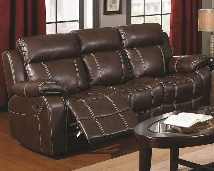 Awesome Brown Leather Recliner Sofa Brown Bonded Leather Reclining Certainly With Regard To Sofa Chair Recliner (View 11 of 20)