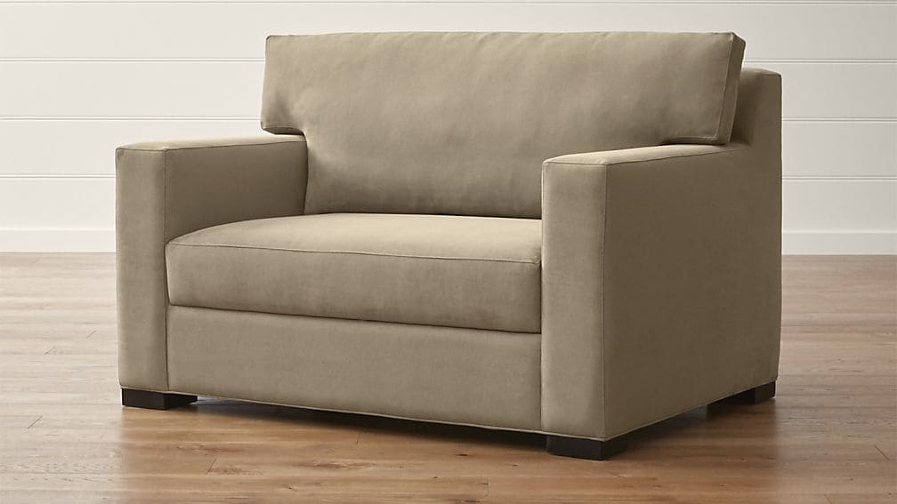 Axis Ii Twin Ultra Memory Foam Sleeper Sofa Crate And Barrel definitely regarding Twin Sleeper Sofa Chairs (Image 1 of 20)