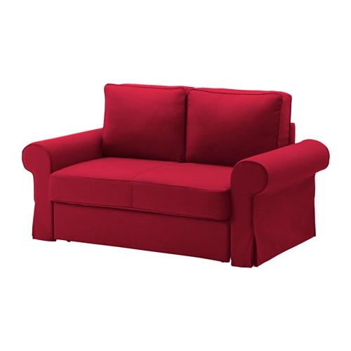 Backabro Two Seat Sofa Bed Nordvalla Red Ikea Certainly With Red Sofa Beds Ikea (View 11 of 20)