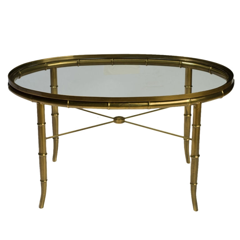 Baker Tortoise Shell Lacquered Oval Glass Tray Coffee Table most certainly within Oval Glass Coffee Tables (Image 6 of 20)