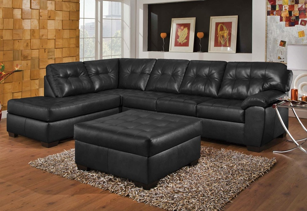 Baltimore Contemporary Sectional Sofa perfectly with regard to Contemporary Black Leather Sectional Sofa Left Side Chaise (Image 6 of 20)