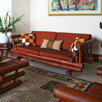Bamboo Sofas Handcrafted Bamboo Furniture For Living Room nicely throughout Bambo Sofas (Image 10 of 20)