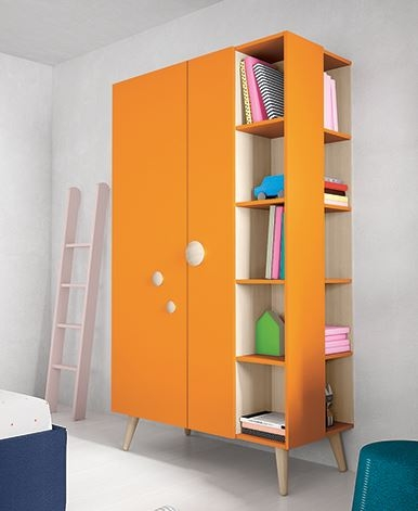 Battistella Woody Wardrobe With Open Shelves So Many Colour definitely throughout Wardrobes With Shelves  (Image 16 of 20)