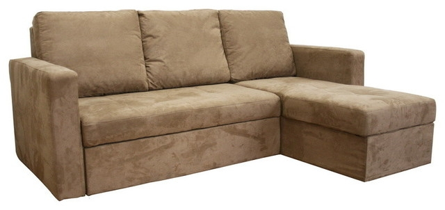 Baxton Studio Linden Tan Microfiber Convertible Sectional Sofa most certainly with regard to Convertible Sectional Sofas (Image 3 of 20)