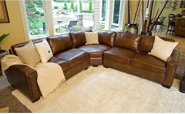 Beautiful Brown Leather Sectional Sofa Diana Dark Brown Leather definitely throughout Diana Dark Brown Leather Sectional Sofa Set (Image 4 of 20)