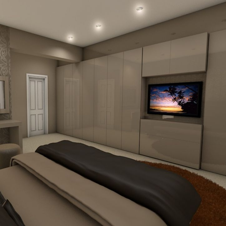 Built In Armoire Bedroom Art Deco Bedroom Suite Young Male Bedroom Decorating Ideas Bedroom Decor Sets: 30 Ideas Of Built In Wardrobes With Tv Space