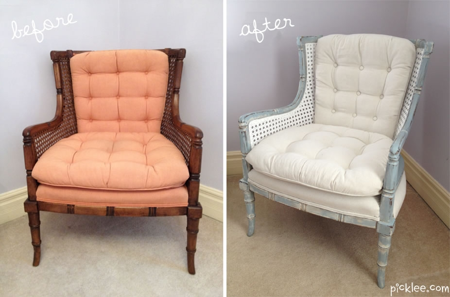 Before After White Cane Chair Your Pick Picklee perfectly intended for White Cane Sofas (Image 4 of 20)