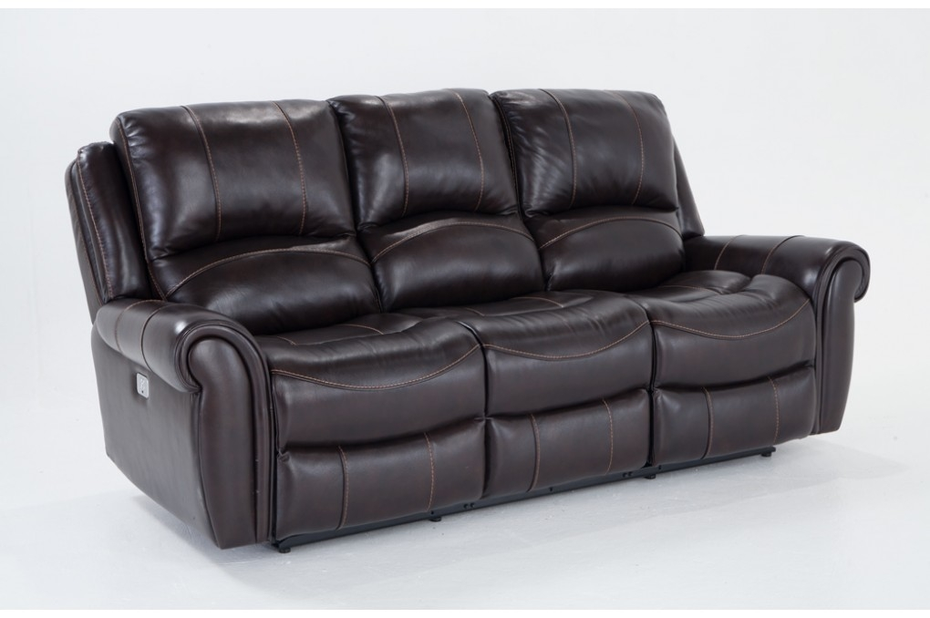 Bennett Leather 88 Power Reclining Sofa Bobs Discount Furniture properly for Recliner Sofa Chairs (Image 4 of 20)