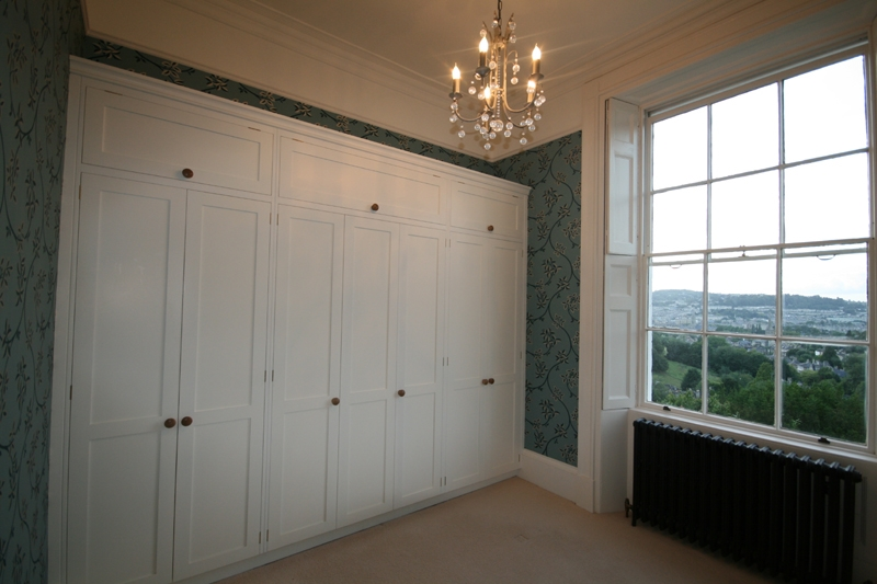 Bespoke Georgian Painted Wall To Wall Wardrobesbath effectively for Wall Wardrobes (Image 12 of 20)