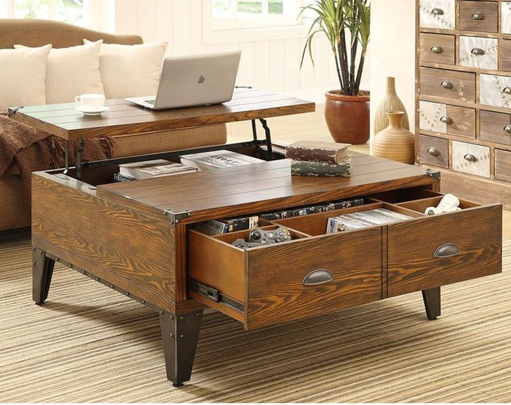 Best 10 Coffee Table Storage Ideas On Pinterest Coffee Table certainly inside Desk Coffee Tables (Image 3 of 20)
