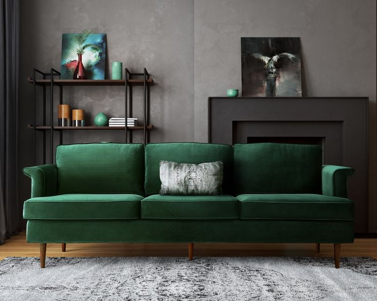 Best 10 Green Couch Decor Ideas On Pinterest Green Sofa Velvet perfectly throughout Green Sofa Chairs (Image 1 of 20)