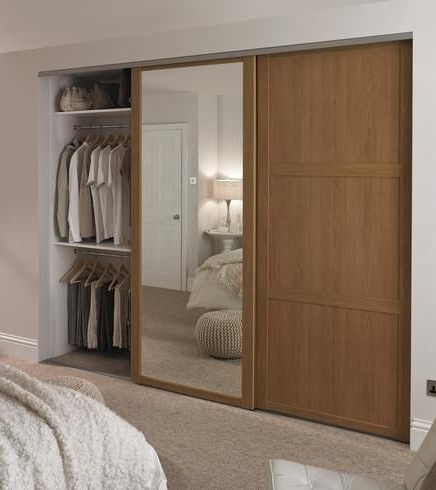 Best 10 Sliding Mirror Wardrobe Doors Ideas On Pinterest nicely intended for Solid Wood Fitted Wardrobe Doors (Image 3 of 30)