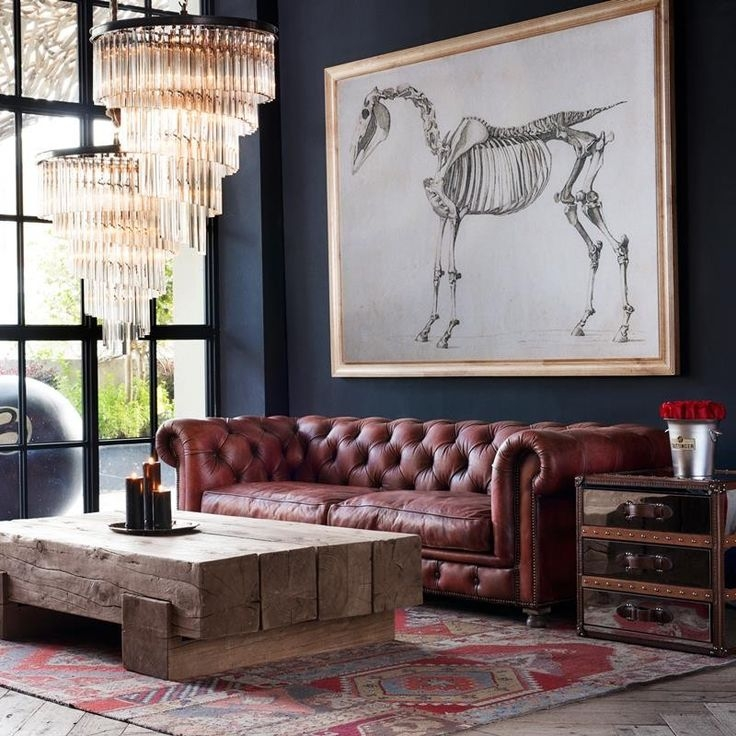 Best 20 Chesterfield Leather Sofa Ideas On Pinterest Very Well Regarding Chesterfield Sofa And Chairs (View 4 of 20)