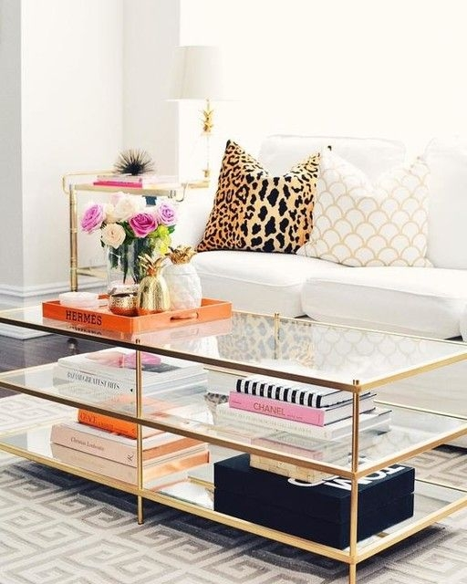 Best 20 Gold Coffee Tables Ideas On Pinterest Table Perfectly Regarding Glass