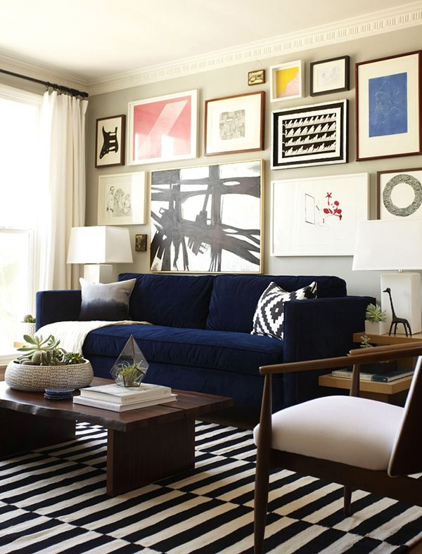 Best 20 Navy Blue Couches Ideas On Pinterest Blue Living Room Most Certainly Within Dark Blue Sofas (View 1 of 20)