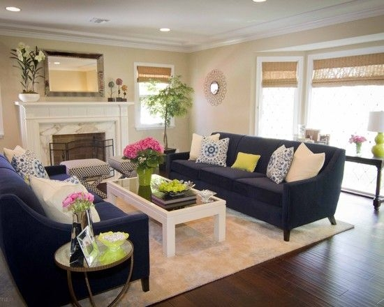 Best 20 Navy Blue Couches Ideas On Pinterest Blue Living Room Nicely Within Dark Blue Sofas (View 5 of 20)