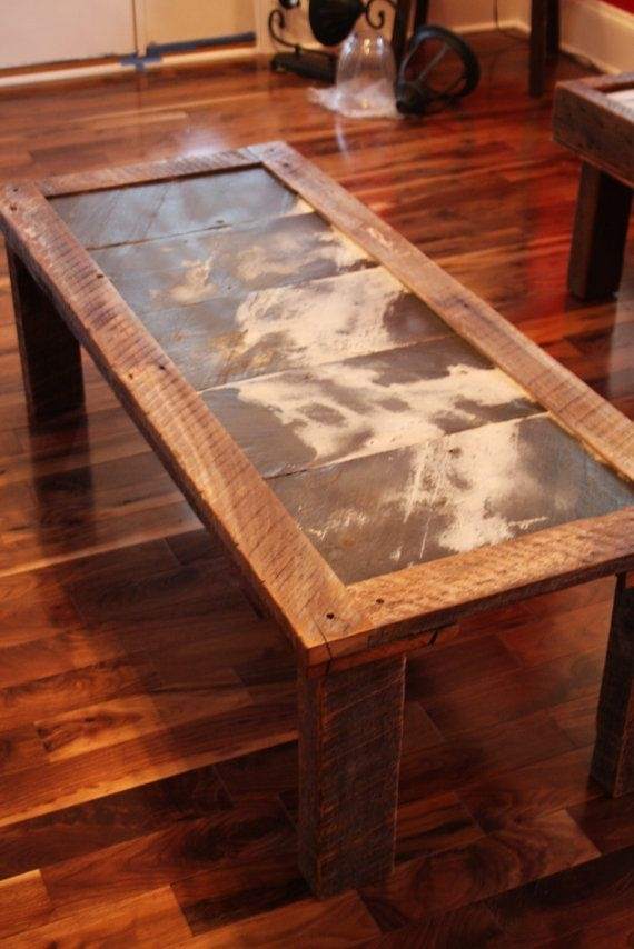 Best 20 Slate Coffee Table Ideas On Pinterest Coffe Table nicely in Round Slate Top Coffee Tables (Image 3 of 20)