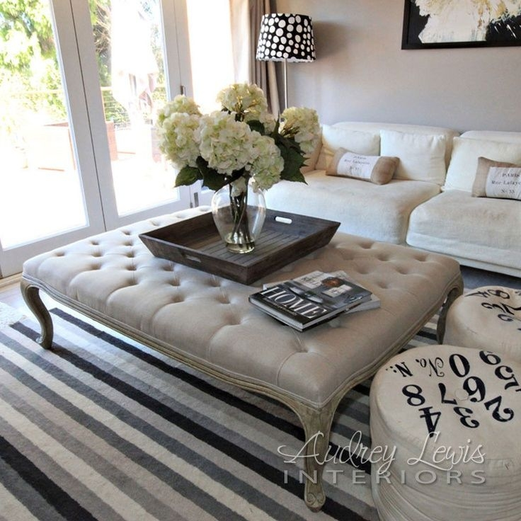 Best 20 Tufted Ottoman Coffee Table Ideas On Pinterest Ottoman Nicely Inside Oversized Round Coffee Tables (View 5 of 20)